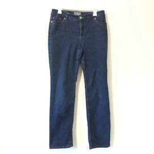 Chicos Jeans Women Size 2 Blue So Lifting Slimming